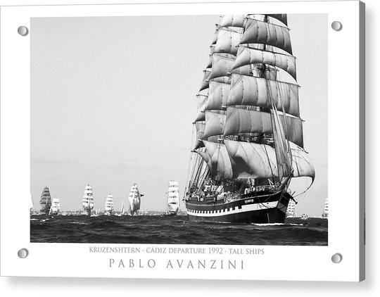 The Kruzenshtern Departing The Port Of Cadiz Acrylic Print