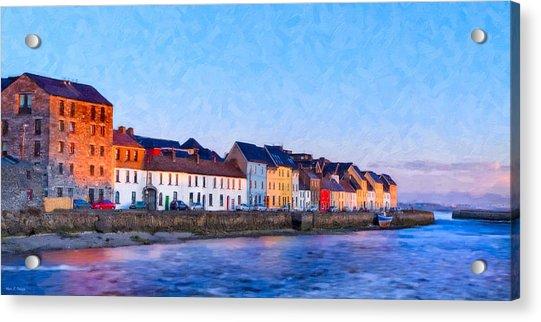 The Long Walk In Galway Ireland Acrylic Print
