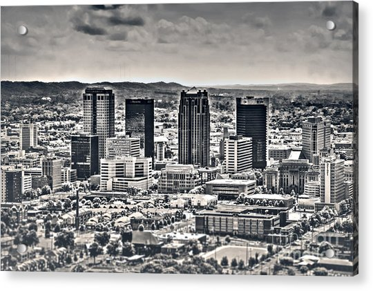 The Magic City Bw Acrylic Print