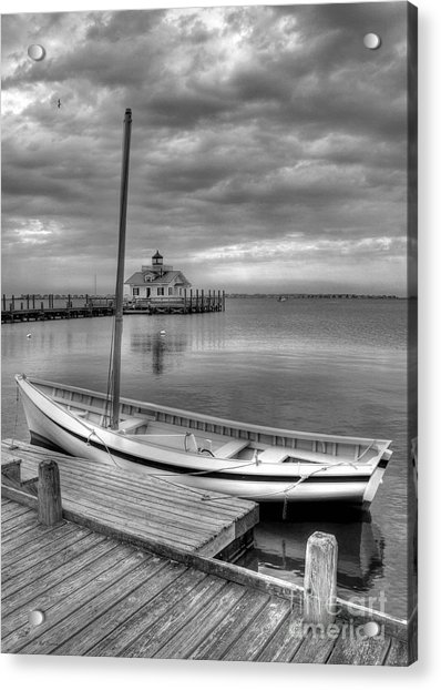The Manteo Waterfront 2bw Acrylic Print
