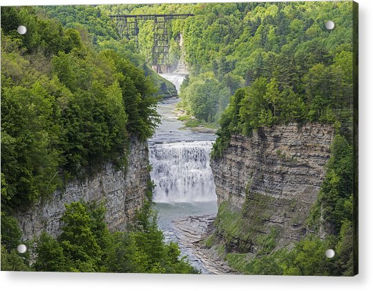 The Middle Falls At Letchworth State Park Acrylic Print