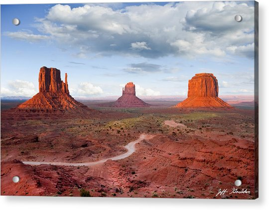 The Mittens And Merrick Butte At Sunset Acrylic Print