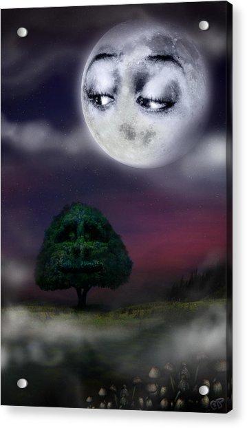 The Moon And The Tree Acrylic Print
