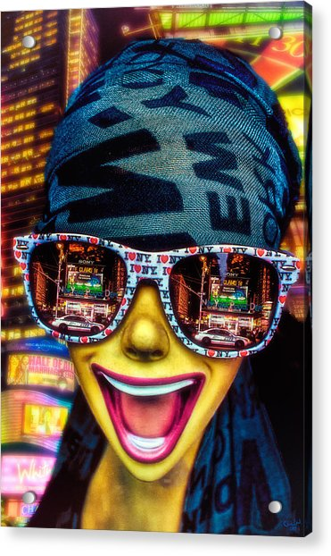 Acrylic Print featuring the photograph The New York City Tourist by Chris Lord