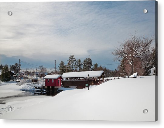 The Old Forge Covered Bridge Acrylic Print