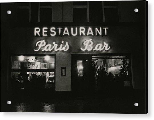 The Paris Bar Acrylic Print