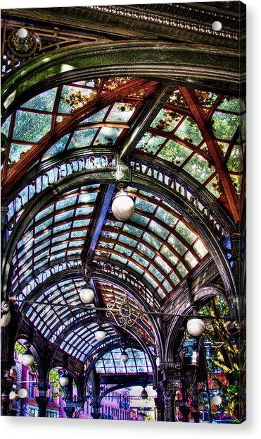 The Pergola Ceiling In Pioneer Square Acrylic Print