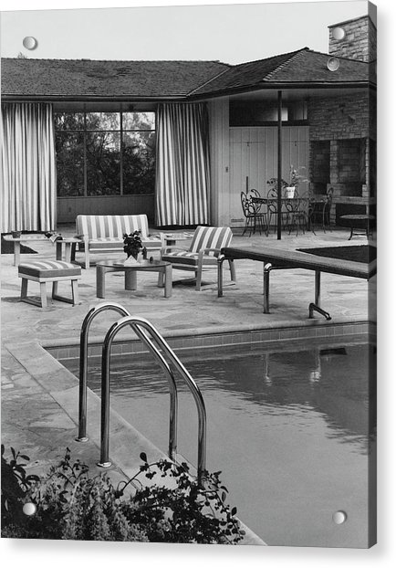 The Pool And Pavilion Of A House Acrylic Print