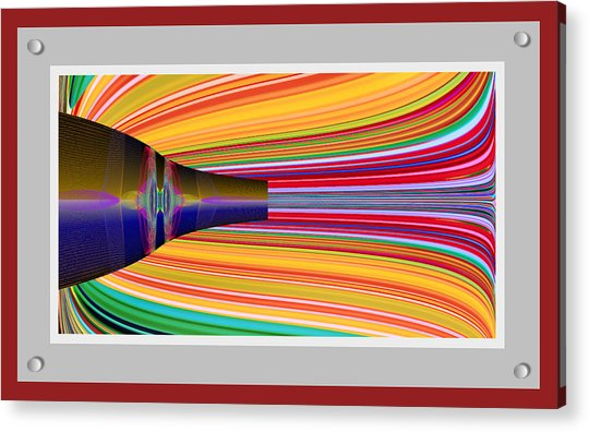 Acrylic Print featuring the digital art The Pour by Stephen Coenen