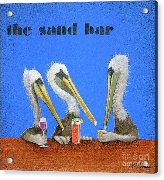 The Sand Bar... Acrylic Print by Will Bullas