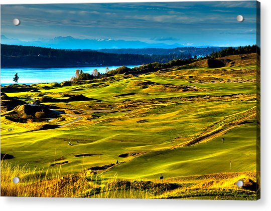 The Scenic Chambers Bay Golf Course - Location Of The 2015 U.s. Open Tournament Acrylic Print