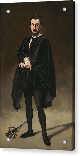 The Tragedian Actor Rouviere As Hamlet Acrylic Print