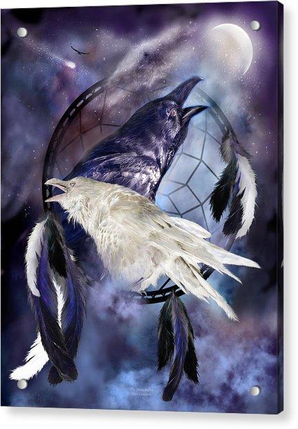 The White Raven Acrylic Print