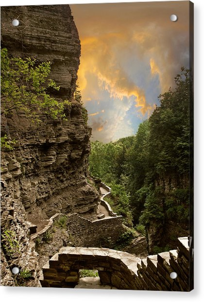 The Winding Trail Acrylic Print