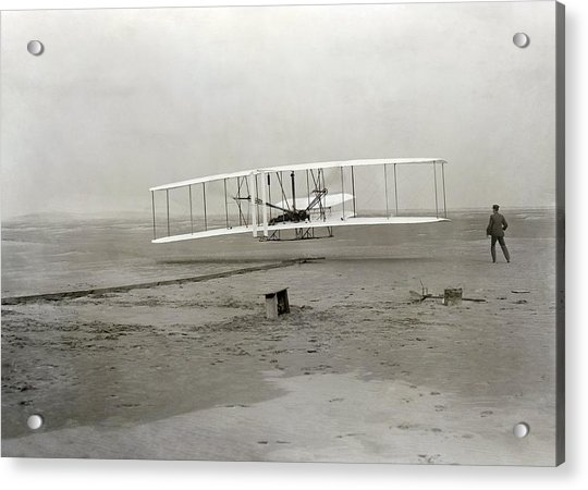 The Wright Brothers' First Powered Acrylic Print
