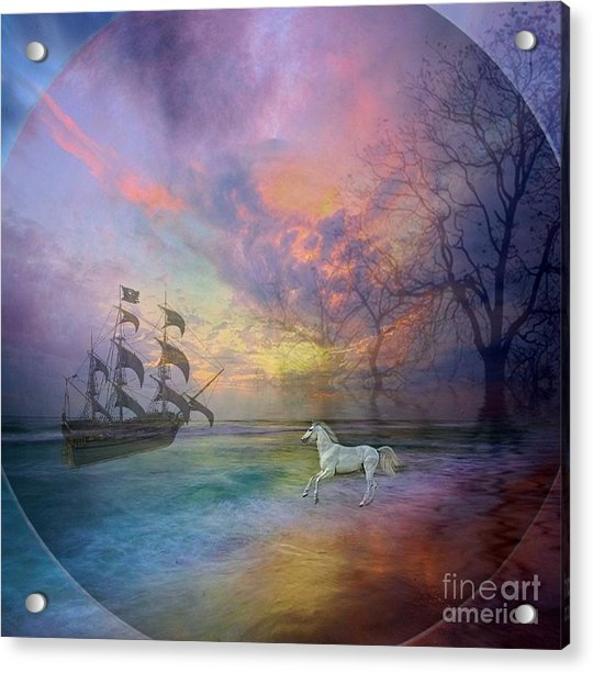 Through The Lense Of Past Acrylic Print