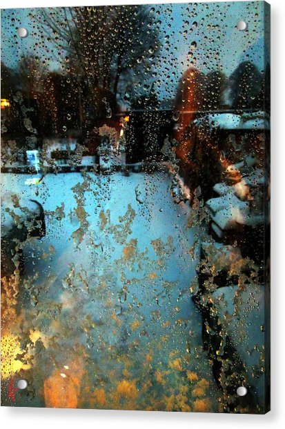Acrylic Print featuring the photograph Through The Window by Colette V Hera  Guggenheim
