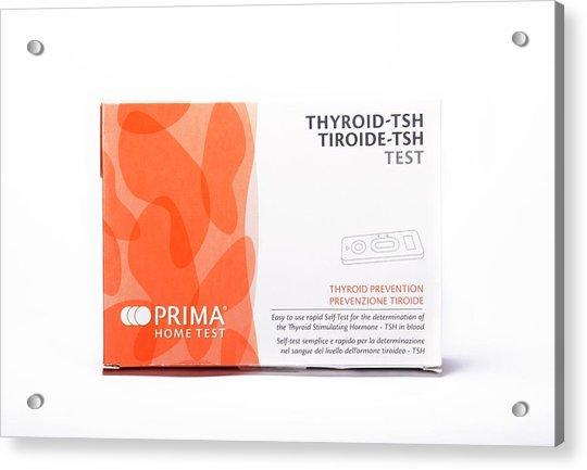 Thyroid Function Home Test Kit Acrylic Print