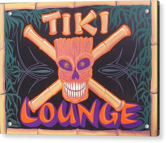 Tiki Lounge Acrylic Print