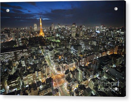 Tokyo Tower At Night Acrylic Print