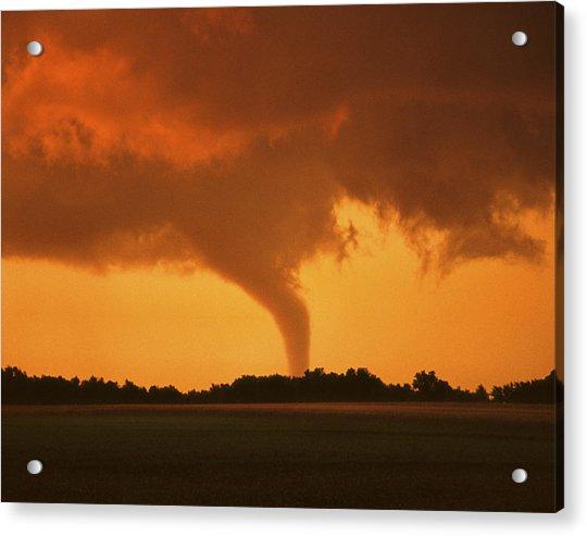 Acrylic Print featuring the photograph Tornado Sunset 11 X 14 Crop by Jason Politte