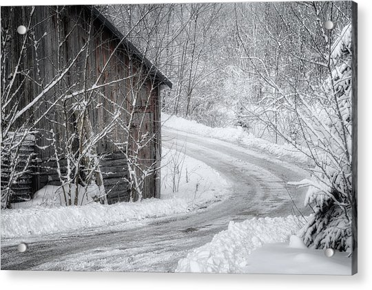 Touched By Snow Acrylic Print
