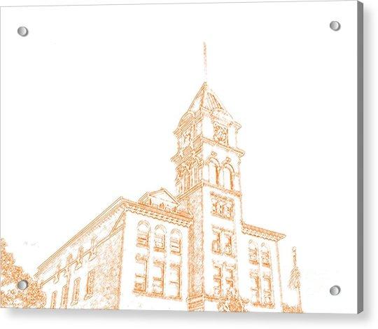 Town Hall Lancaster Ny Acrylic Print