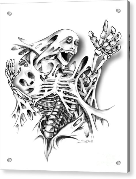 Trapped Skeleton By Spano Acrylic Print