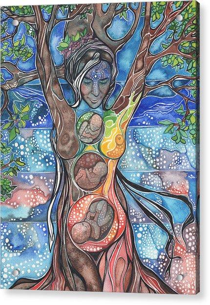 Tree Of Life - Cha Wakan Acrylic Print