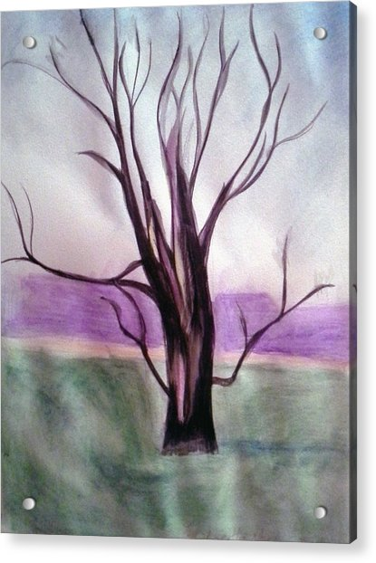 Tree Watercolor Acrylic Print
