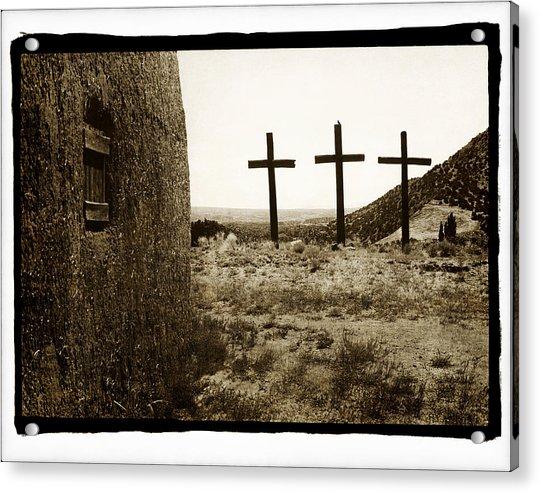 Tres Cruces New Mexico Acrylic Print