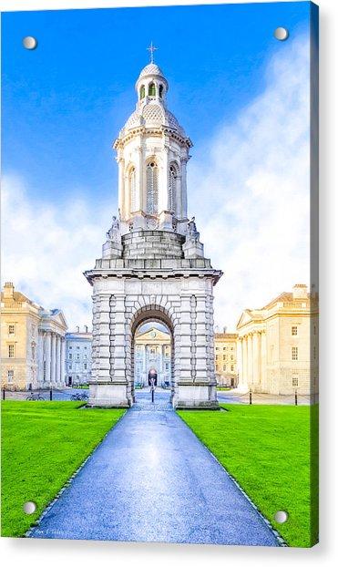 Trinity College Campanille - Dublin Ireland Acrylic Print