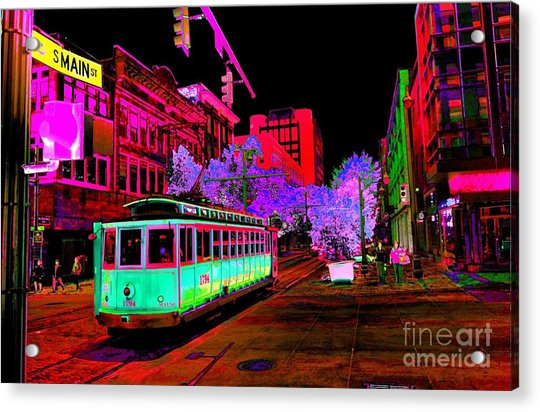 Trolley Night Digital  Acrylic Print