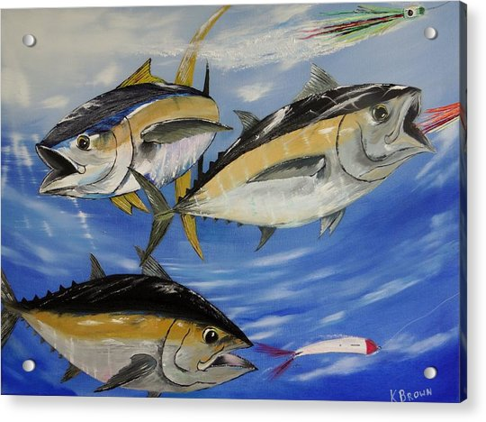 Tuna Attack Acrylic Print