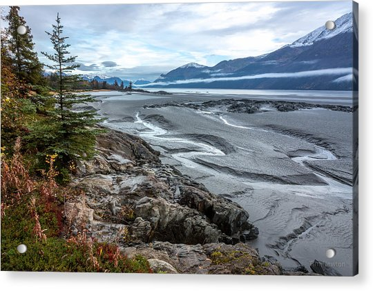 Acrylic Print featuring the photograph Turnagain Tide Flats by Tim Newton