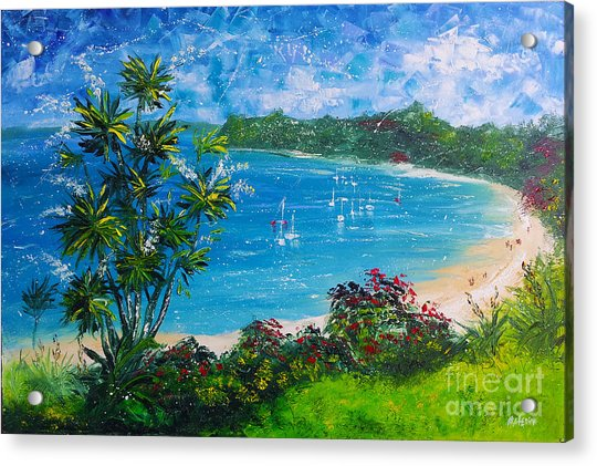 Turquoise Bay On A Sunny Day Acrylic Print