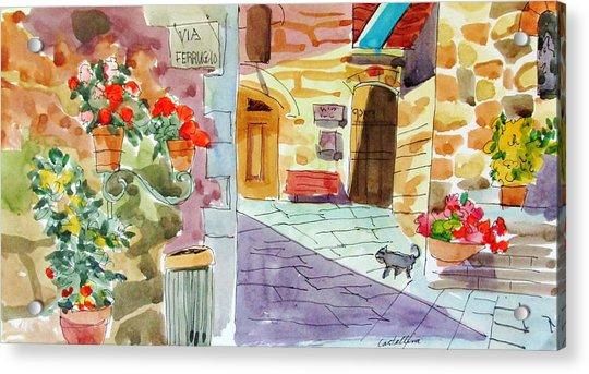 Tuscan Street Scene Acrylic Print