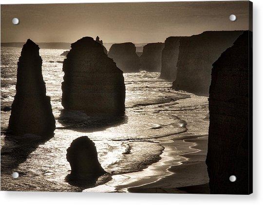 Twelve Apostles #3 - Black And White Acrylic Print