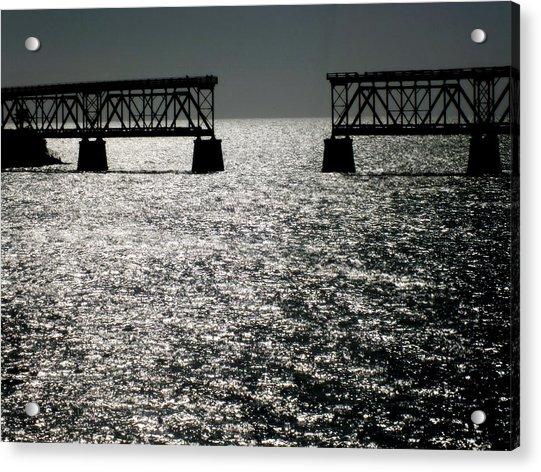 Twilgiht Railroad Acrylic Print