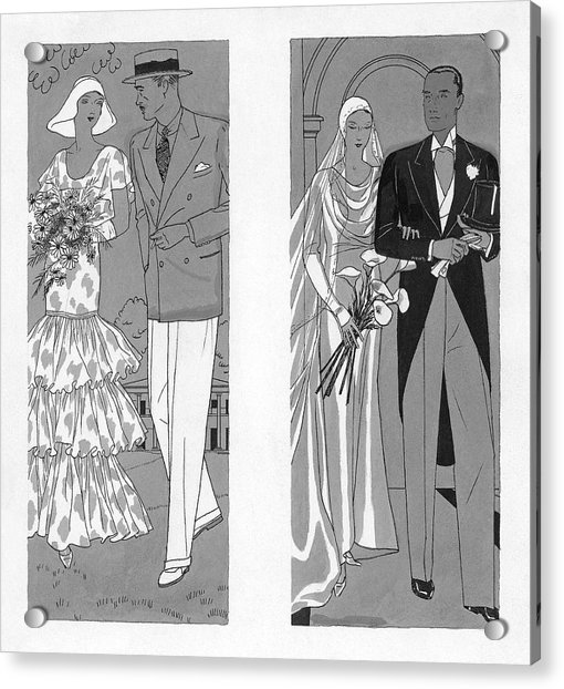 Two Couples Getting Married Acrylic Print