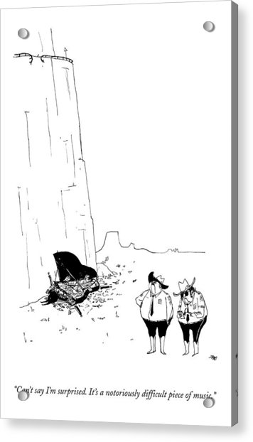 Two Police Officers Survey The Wreckage Acrylic Print