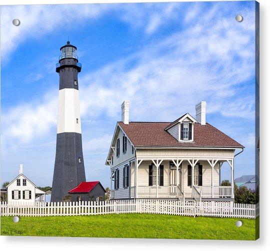 Tybee Island Lighthouse At Dawn Acrylic Print