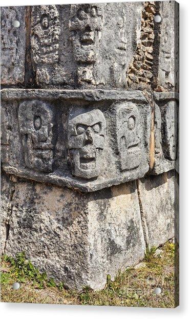 Tzompantli Or Platform Of The Skulls At Chichen Itza Acrylic Print