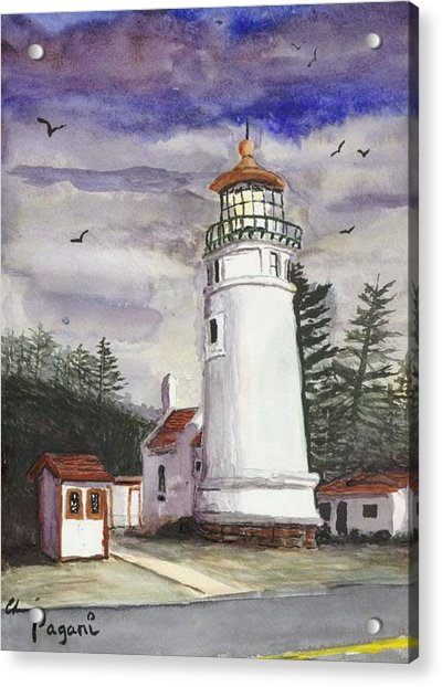 Umpqua Lighthouse Acrylic Print
