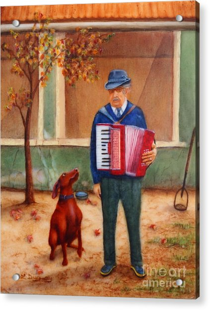 Uncle Ioan And Rocky In Romania Acrylic Print
