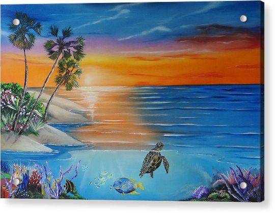 Underwater Paradise Acrylic Print