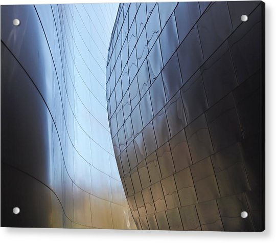 Acrylic Print featuring the photograph Undulating Steel by Rona Black