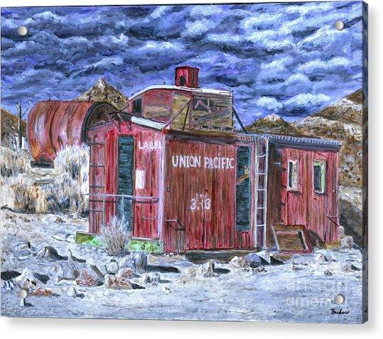 Union Pacific Train Car Painting Acrylic Print