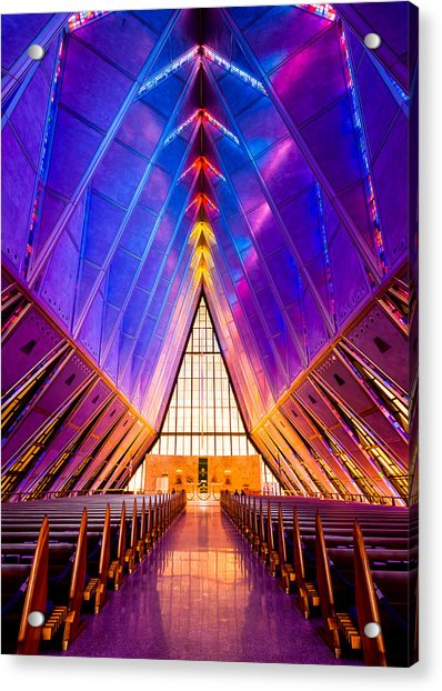United States Air Force Academy Protestant Cadet Chapel Acrylic Print