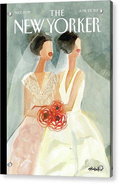 June Brides Acrylic Print